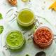 Homemade Pesto in Jars. Basil and Tomato Helthy Italian Pesto - PhotoDune Item for Sale