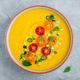 Yellow Tomato Gazpacho. Spanish summer cold soup - PhotoDune Item for Sale