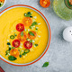 Yellow Tomato Gazpacho. Spanish summer cold soup - PhotoDune Item for Sale