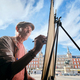 Senior Adult Working As Street Painter In Madrid - PhotoDune Item for Sale