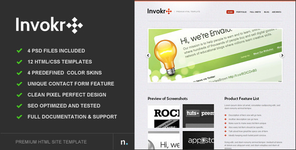 Invokr – Premium HTML Website Template
