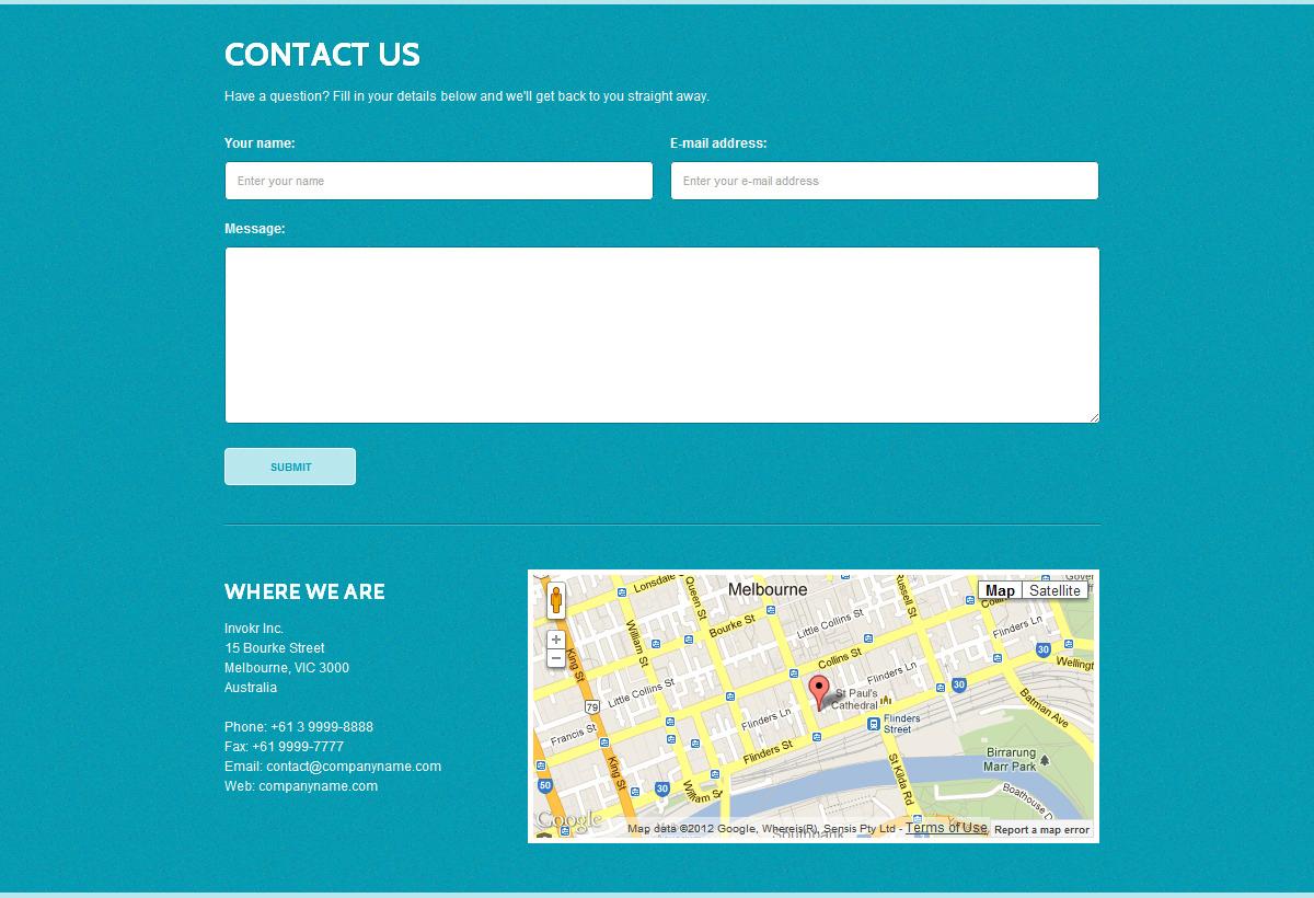 Invokr - Premium HTML Website Template by ThemeChills   ThemeForest