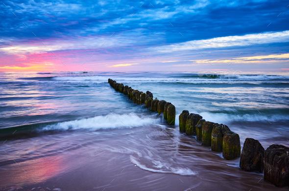 Purple sunset - Stock Photo - Images
