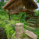Traditional Horreo raised on wooden pillars with a thatched roof - PhotoDune Item for Sale