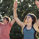 Healthy young couple exercising outdoors - PhotoDune Item for Sale