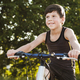 Happy healthy young boy riding his bicycle - PhotoDune Item for Sale