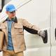 Man delivering parcel by the van - PhotoDune Item for Sale