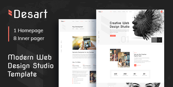 Desart - Creative Web Design Studio HTML Template