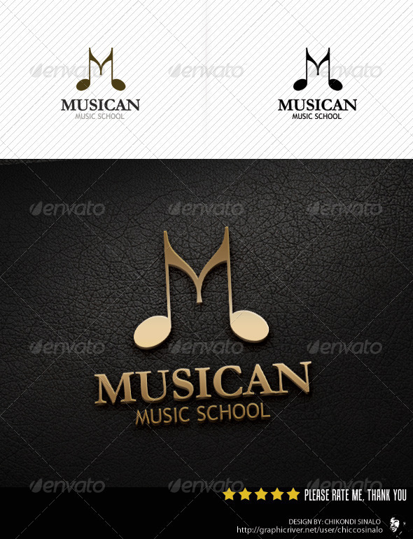 Musican Logo Template - Abstract Logo Templates