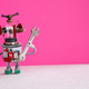 Toy robot mechanic holding a wrench tool in his hand. - PhotoDune Item for Sale