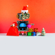 Robot Santa Claus with red hat, toy pine tree, a bag of gifts - PhotoDune Item for Sale