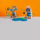Two fisherman robots catches big fish. - PhotoDune Item for Sale