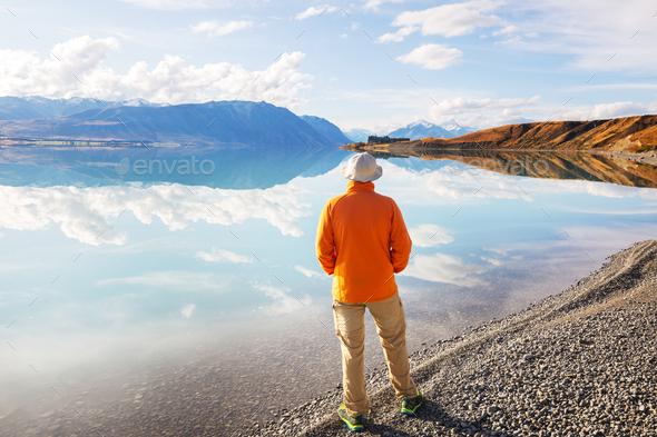 New Zealand lakes - Stock Photo - Images