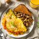 Homemade Veggie Omelette with Cheese - PhotoDune Item for Sale