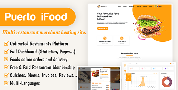 Download iFood – multi restaurant merchant hosting site Free Nulled