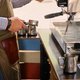 Image of male preparing coffee in a coffee machine. - PhotoDune Item for Sale