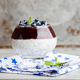 Yogurt,pudding with Chia seeds,blueberries and jam.Dessert.Healthy food - PhotoDune Item for Sale
