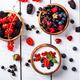 Homemade Yogurt,bowl with different berries,blackberries, strawberries,red currants,raspberries - PhotoDune Item for Sale