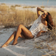 Woman Resting on the Beach During Vacations - PhotoDune Item for Sale