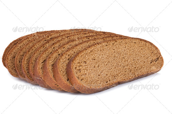 bread on white background - Stock Photo - Images