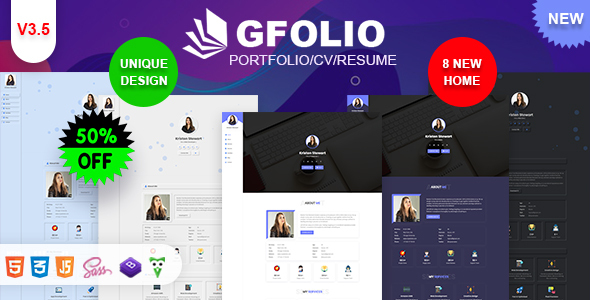 Extraordinary Gfolio - Personal Portfolio