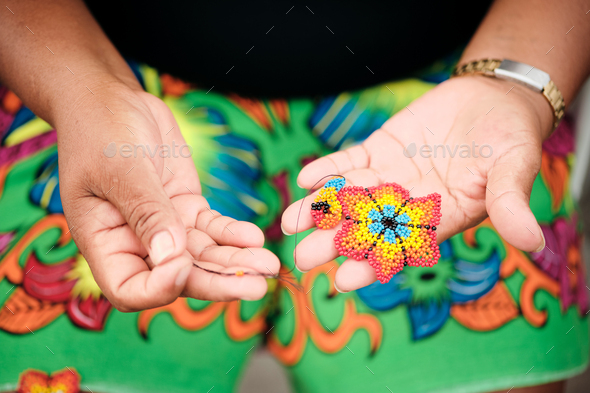 Indigenous People Crafting Souvenirs For Sale - Stock Photo - Images