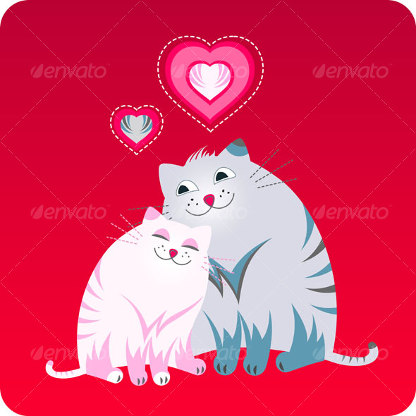 Funny love greeting card with pets - Valentines Seasons/Holidays
