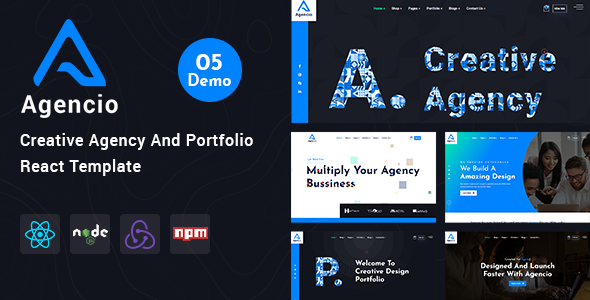 Agencio - Creative Agency And Portfolio React Template