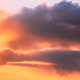Rain Through Cloudy Sky With Fluffy Clouds During Sunset Sky - PhotoDune Item for Sale