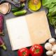 Cooking utensils, ingredients and cookbook - PhotoDune Item for Sale