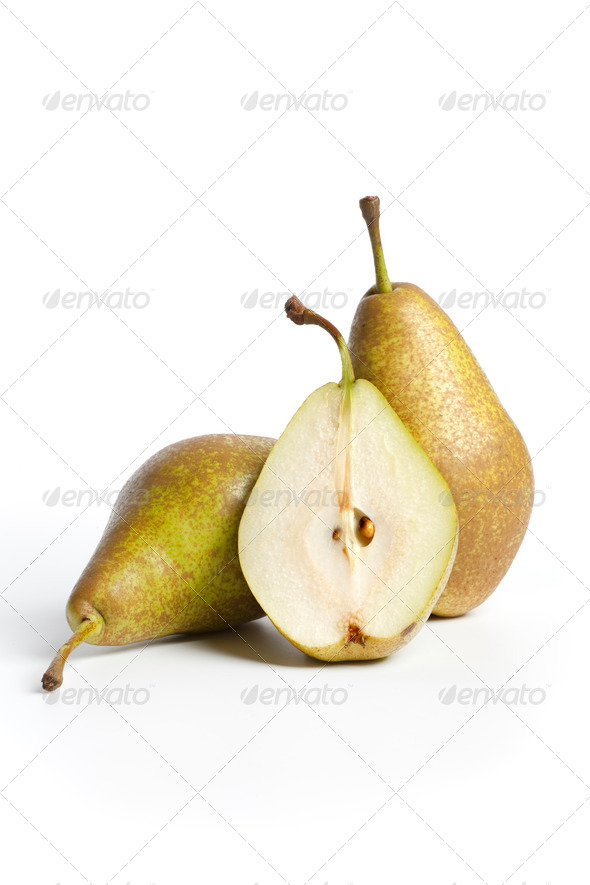 Fresh Pears Triomphe de Vienne - Stock Photo - Images
