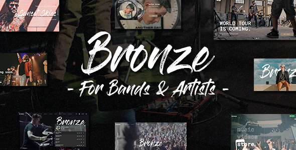 Download Bronze – A Professional Music WordPress Theme Free Nulled