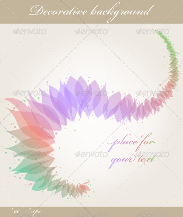 Colorful Floral Background - Flourishes / Swirls Decorative