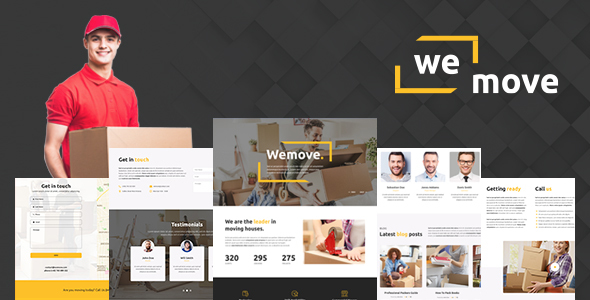 Exceptional WeMove - Home Moving & Logistic WordPress Theme