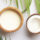 Coconut and bowl of coconut milk - PhotoDune Item for Sale
