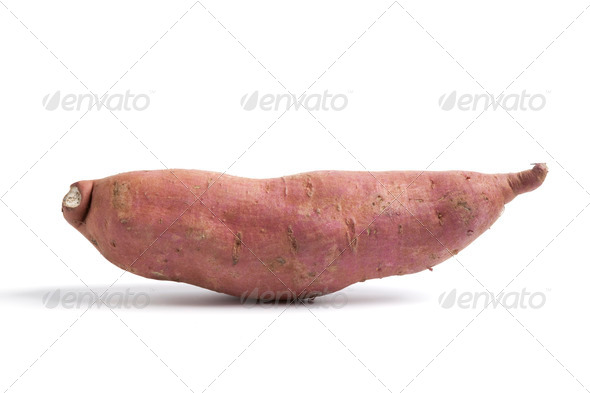 Whole single Sweet potato - Stock Photo - Images