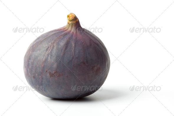 Whole single fresh fig - Stock Photo - Images