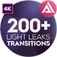 4K Light Leaks Transitions - VideoHive Item for Sale