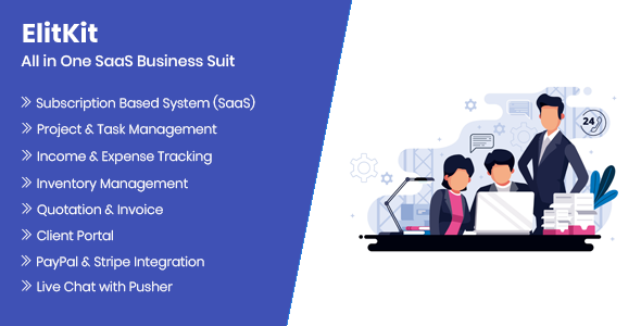 Download ElitKit – All In One SaaS Business Suit Free Nulled