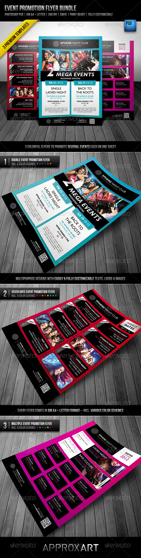 Event Promotion Flyer Bundle - Clubs & Parties Events