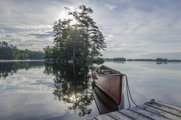 Stony Lake Early Morning - Stock Photo - Images