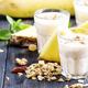 Milkshake with banana, pineapple, yogurt and muesli - PhotoDune Item for Sale