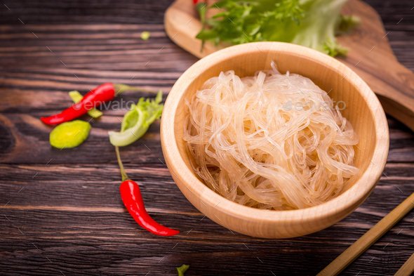 Rice glass noodle - Stock Photo - Images