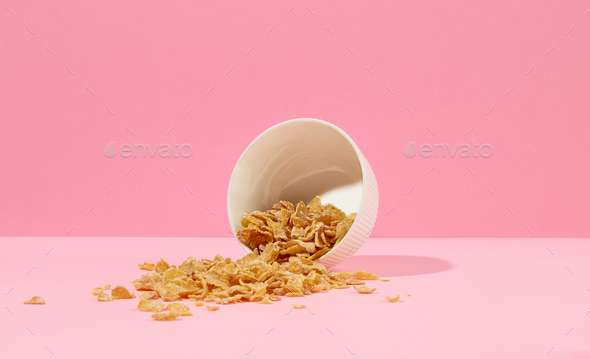 bowl of cornflakes - Stock Photo - Images