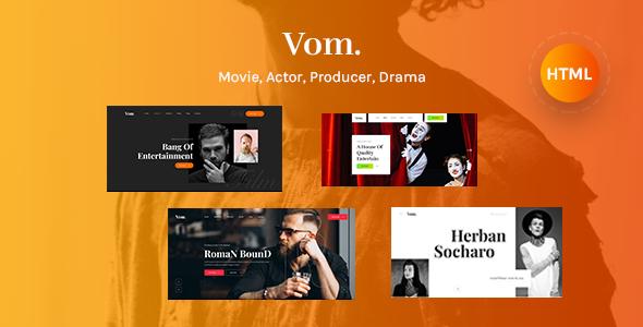 Super Vom - Multipurpose Film Maker HTML5 Template