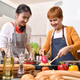 Mother and daughter cooking in the kitchen - PhotoDune Item for Sale