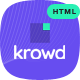 Krowd - Crowdfunding Projects & Charity HTML Template