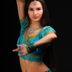 Girl in traditional indian dress shows dance movement - PhotoDune Item for Sale