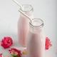 Moon milk prepares with pink rose - PhotoDune Item for Sale
