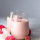 Two glasses of moon milk prepares with pink rose - PhotoDune Item for Sale